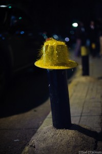 The Traffic Hat (D700, Nikkor 50mm f/1.4 @ 50mm, f1.4, ISO 1000, 1/80 sec)